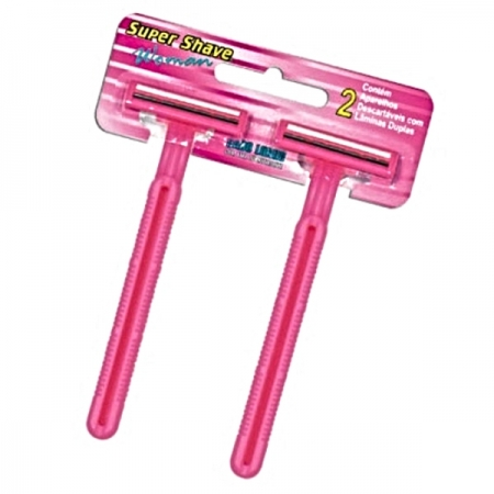 AP BARBEAR SUPERSHAVE 6 PARES  ROSA 2 LAMINAS