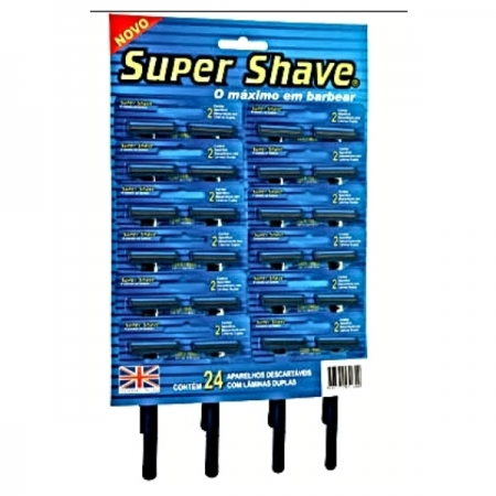 AP BARBEAR SUPERSHAVE AZUL 24 UNIDADES