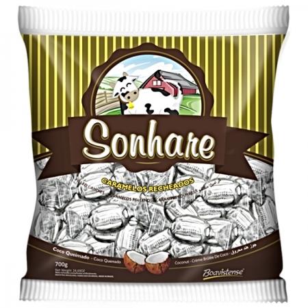 BALA SONHARE COCO QUEIMADO 600GR