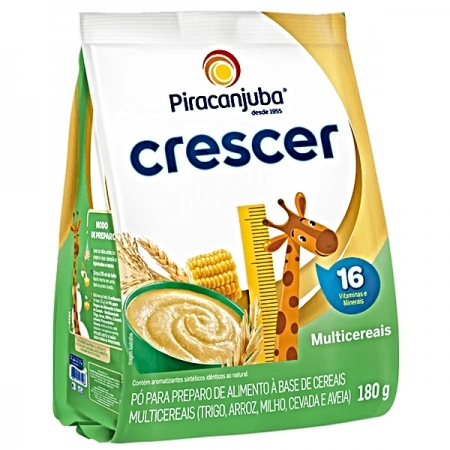 CEREAL MULTICEREAIS CRESCER 180GR POUCH PIRACANJUBA