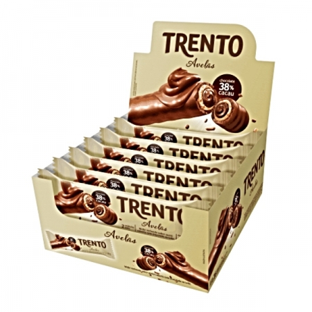 CHOCOLATE TRENTO AVELAS 16x2UNID 32gr  512g