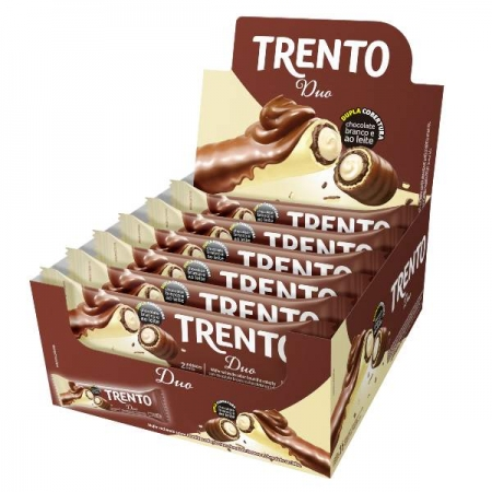 CHOCOLATE TRENTO DUO 16 UNIDADES 32 GR