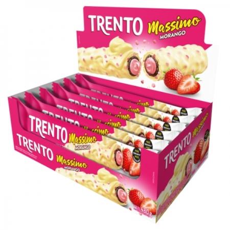 CHOCOLATE TRENTO MASSIMO MORANGO 16 UNIDADES 480GR