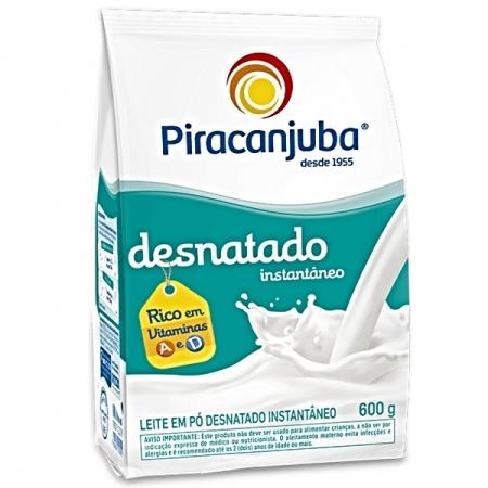 LEITE PÓ DESNATADO INST 600 GR PCT PIRACANJUBA