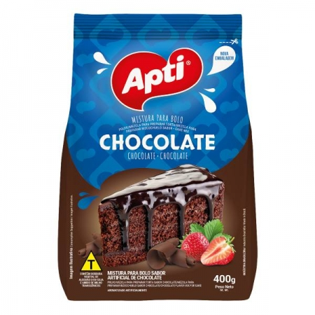 MISTURA BOLO CHOCOLATE 12 UNIDADES 400GR APTI