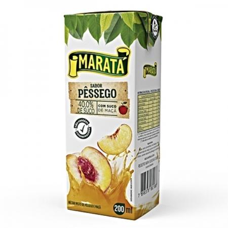 NECTAR PESSEGO MARATA 27 UNIDADES 200ML