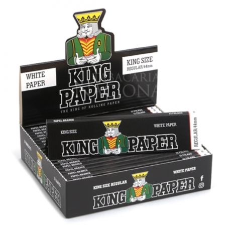 PAPEL KING WHITE PAPER 20 LIVROS 33 FOLHAS