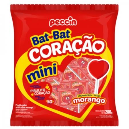 PIRULITO BAT BAT CORAÇAO MORANGO 500GR 50UN