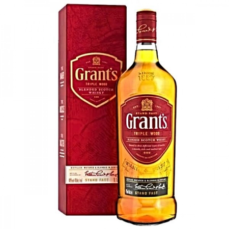 WHISKY GRANTS TRIPLE WOOD 1 LT CARTUCHO