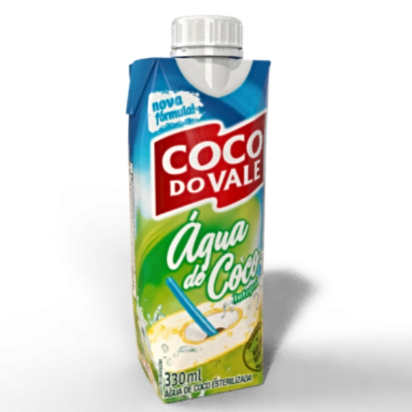 AGUA DE COCO DO VALE 12X330 ML 12 UNIDADES
