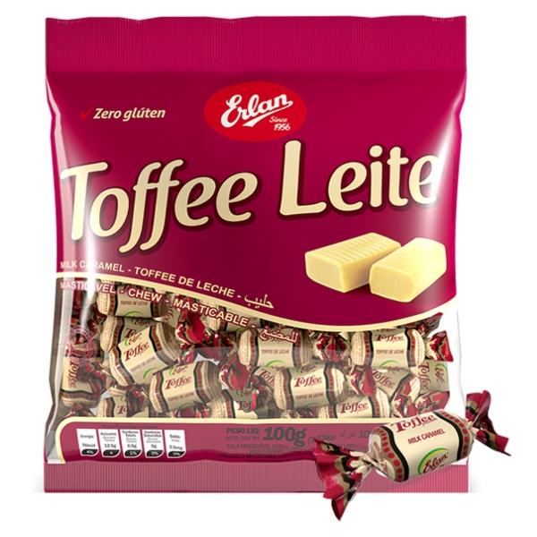 BALA TOFFE LEITE 600 GR ERLAN