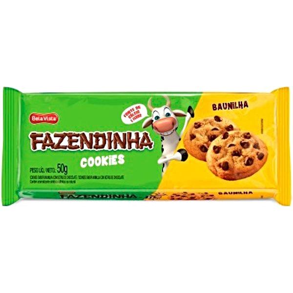 BISC COOKIES BAUNILHA FAZENDINHA 24 UNIDADES 50GR
