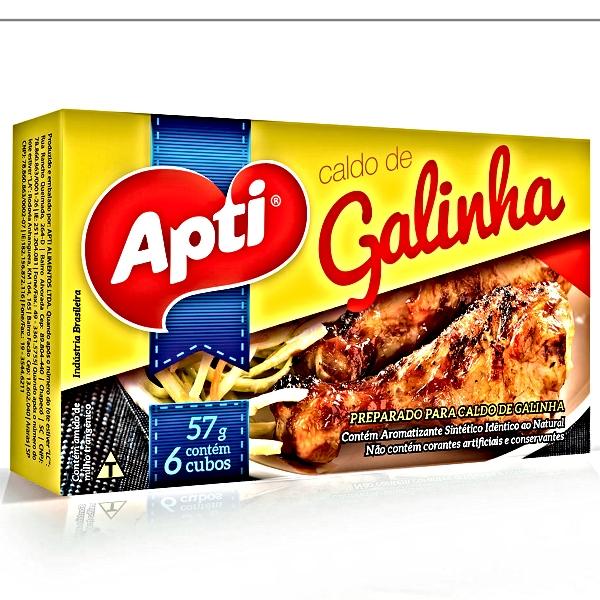 CALDO TABLETE GALINHA 10 UNIDADE 57 GR APTI