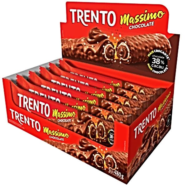 CHOCOLATE TRENTO MASSIMO CHOC 16 UNIDADES DE 480GR