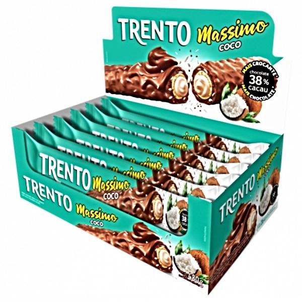CHOCOLATE TRENTO MASSIMO COCO AO LEITE 16 UNIDADES 480GR
