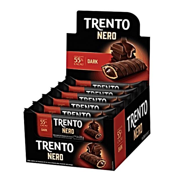 CHOCOLATE TRENTO NERO DARK 16 UNIDADE 352GR