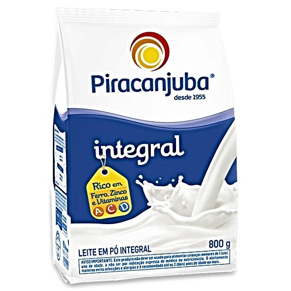 LEITE PÓ INTEGRAL INST 800 GR POUCH PIRACANJUBA