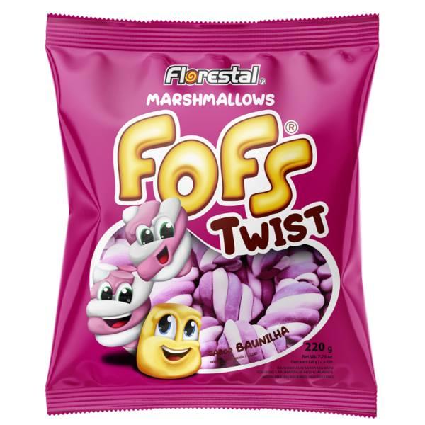 MARSH FOFS TWIST ROSA E BRANCO 220G