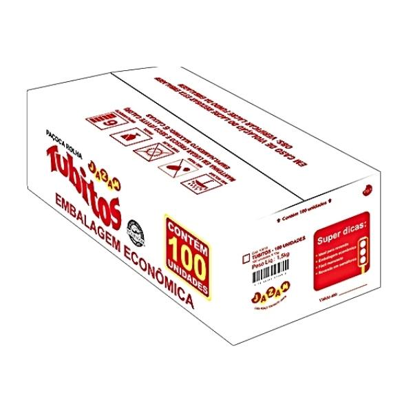 PAÇOCA TUBITOS CAIXA 100 UNIDADES  1,5kg