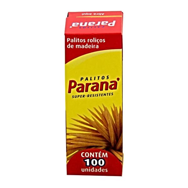 PALITO DENTE MADEIRA 25CX DE 100UN PARANA
