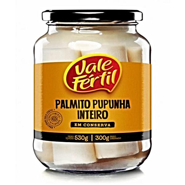 PALMITO PUPUNHA EM CONSERVA VIDRO 300G VALE FÊRTIL