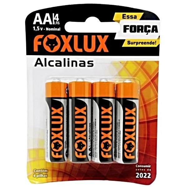 PILHA ALCALINA BLISTER AA C/4 FOXLUX