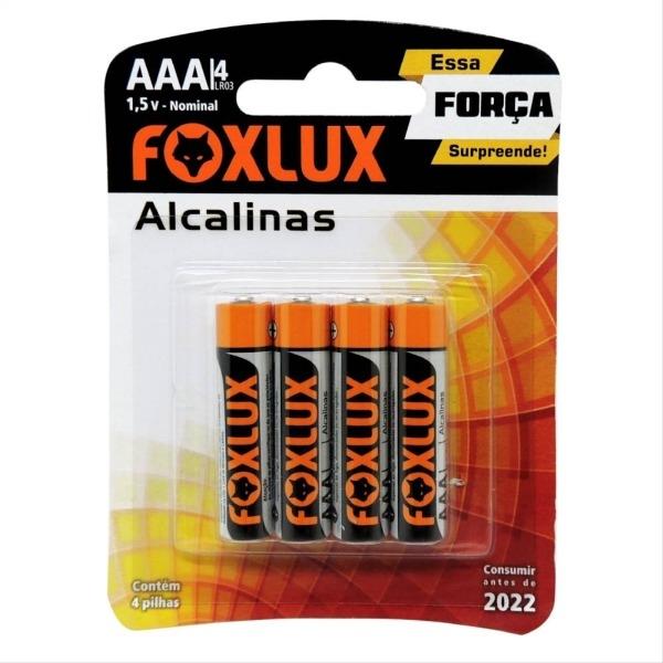 PILHA ALCALINA PALITO BLISTER AAA C/4 FOXLUX