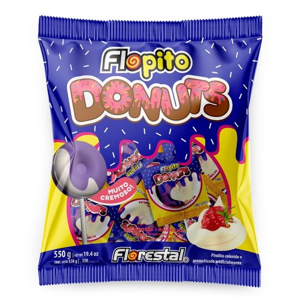 PIRULITO DONUTS FRAMBOESA/BAUNILHA 550GR