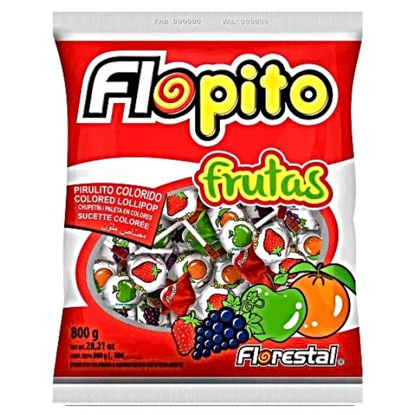 PIRULITO FLOPITO FRUTAS 800GR 100 UNID