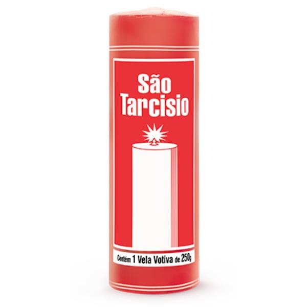 VELA VOTIVA SAO TARCISIO VERMELHA 12 UNIDADES 250 GR ZUPP