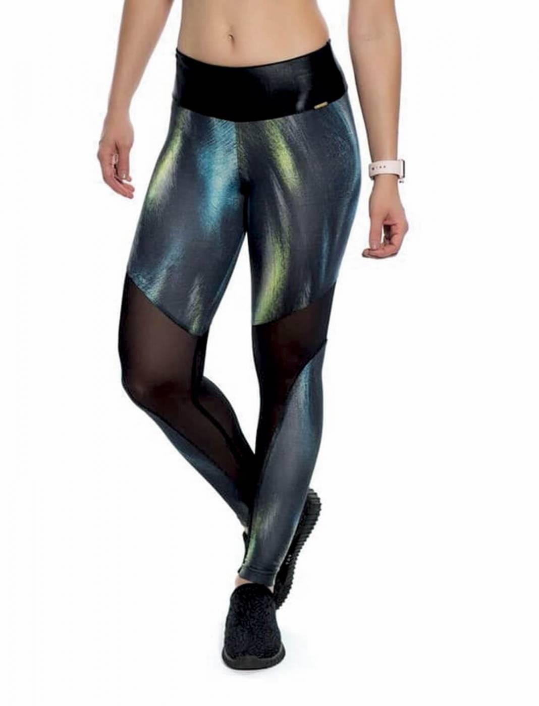 Calça Legging Estampa Cosmic Recortes