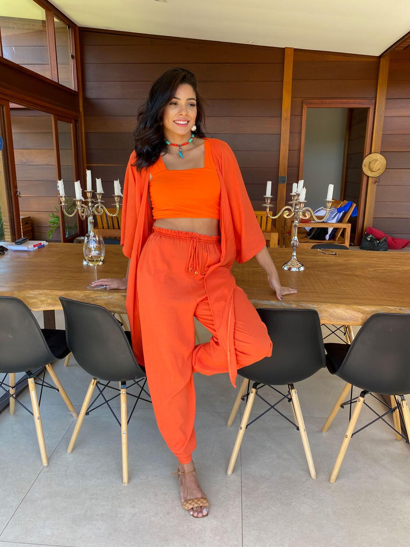 Calça Pantalona Corte Reto Dubai