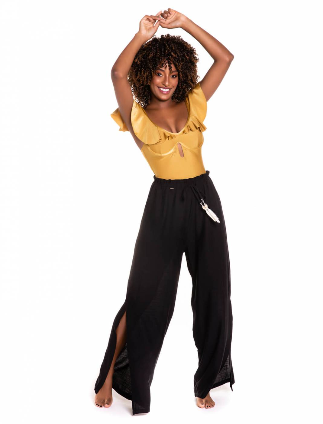 Calça Pantalona Rayon Black