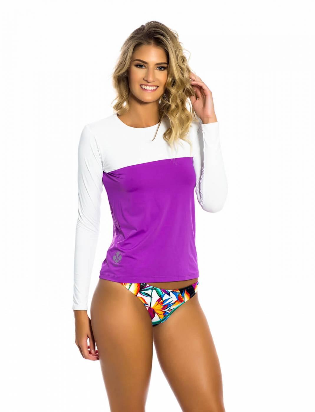 Camisa Feminina UV Roxa