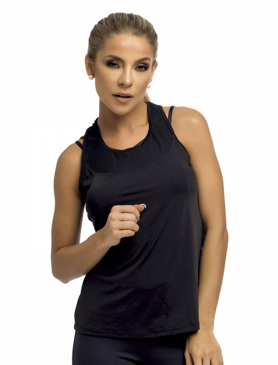 Camisa Regata Fitness - Black