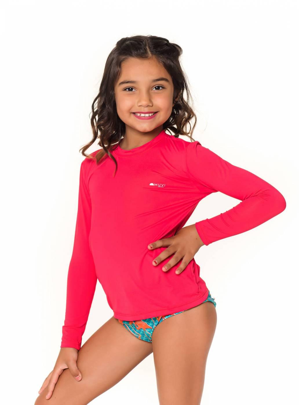 Camiseta Kids UV Proteção Solar Pink