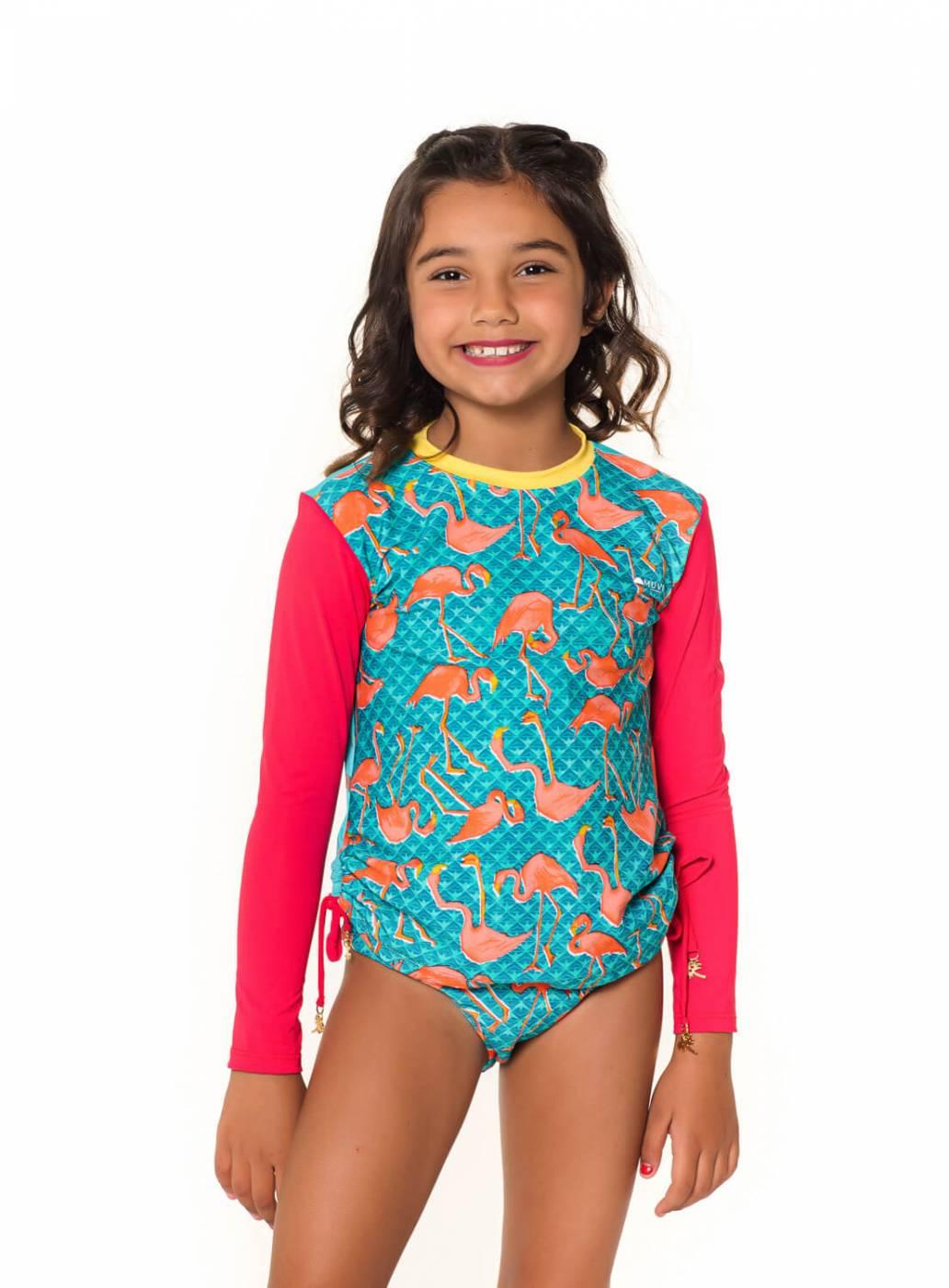 Camiseta Kids UV Proteção Solar Sirena