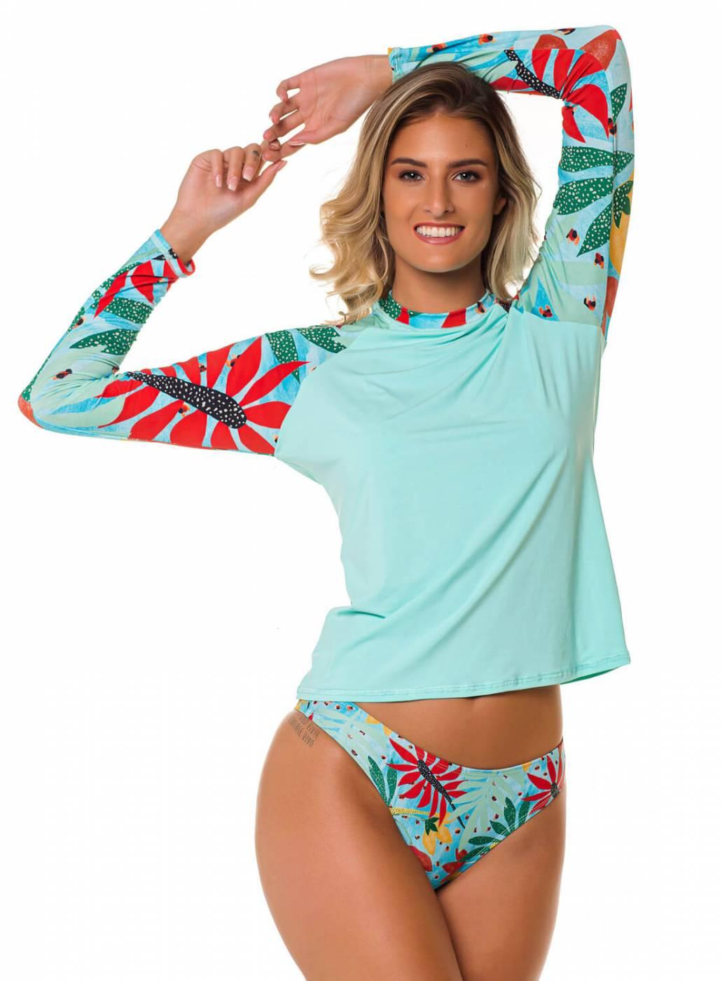Conjunto Camisa e Calcinha UV50+ PRO - Azul