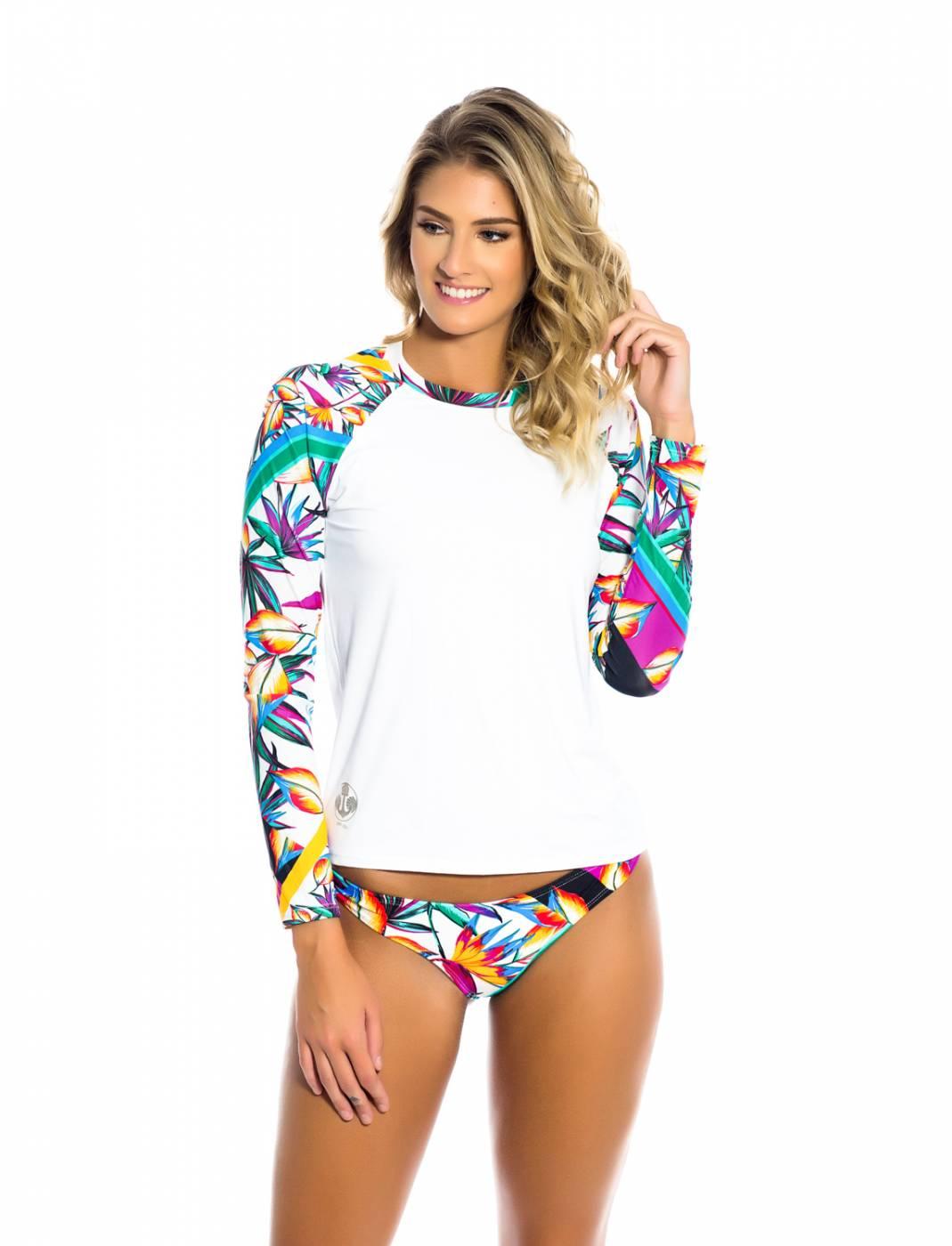 Conjunto Camisa e Calcinha UV - Flowers