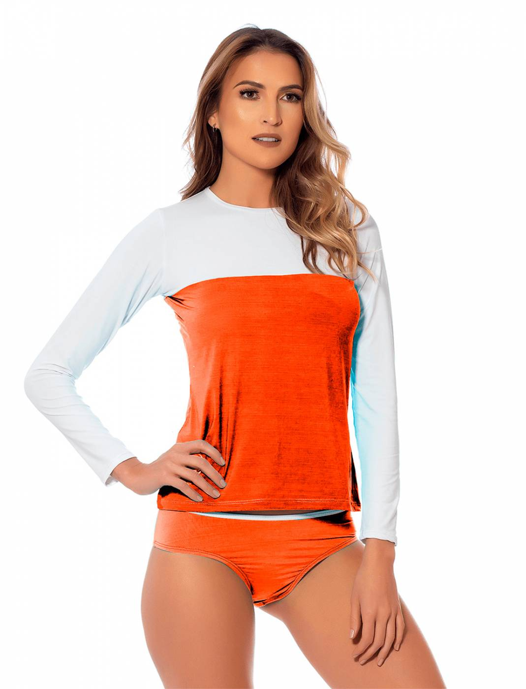 Conjunto Camisa e Calcinha UV Orange