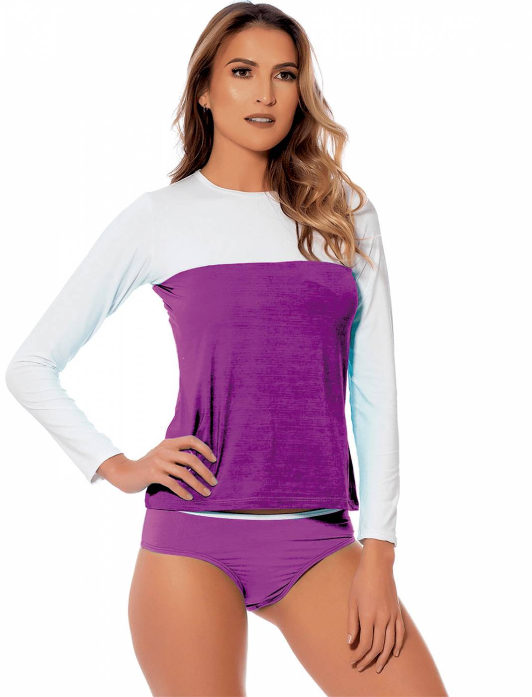 Conjunto Camisa e Calcinha UV Purple