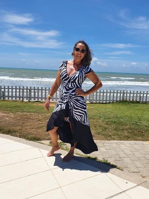 Saída de Praia -Saia Midi Babado Exotic 2021