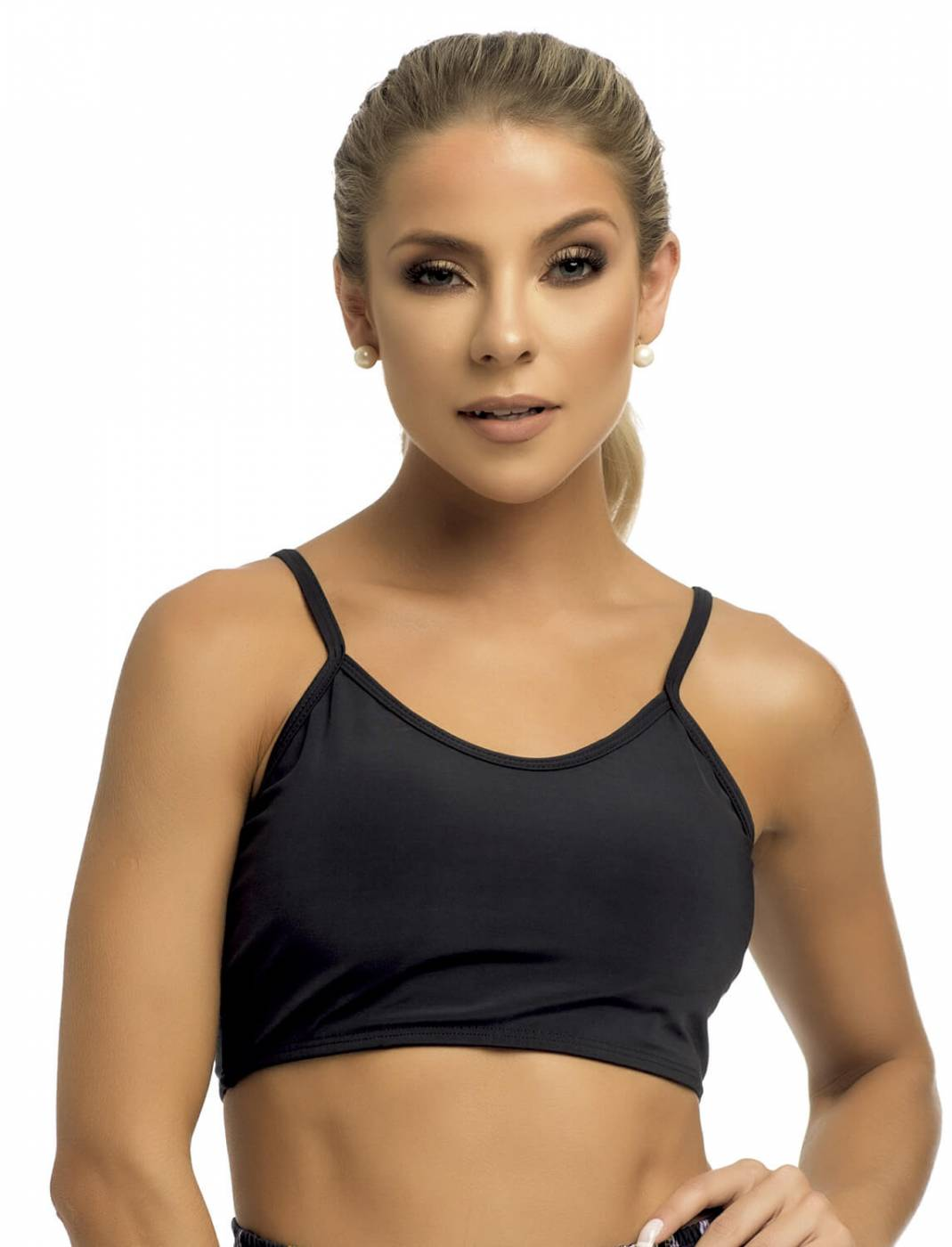 Top Cropped Fitness Black