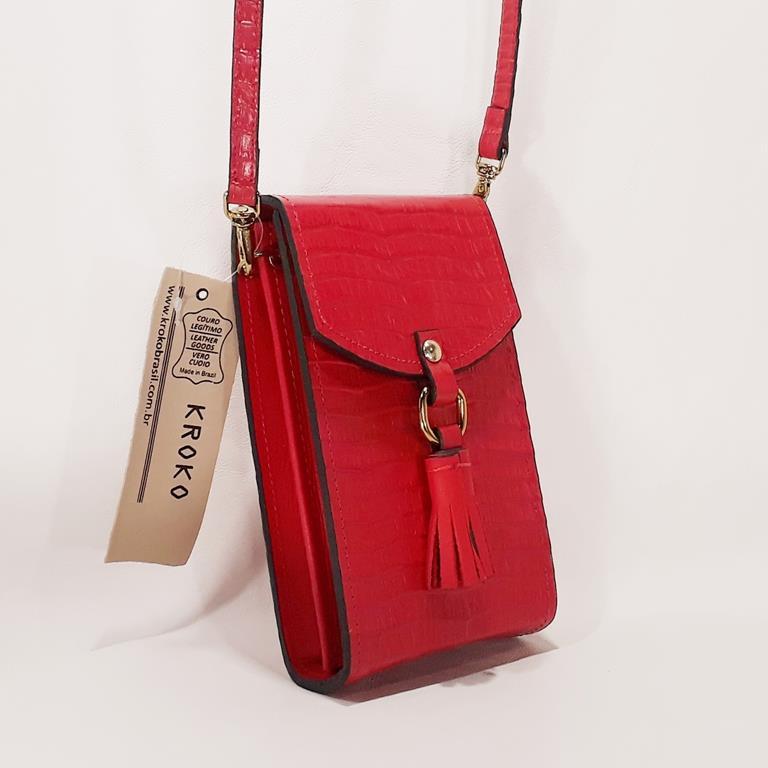 Bolsa KROKO Fashion Vermelho