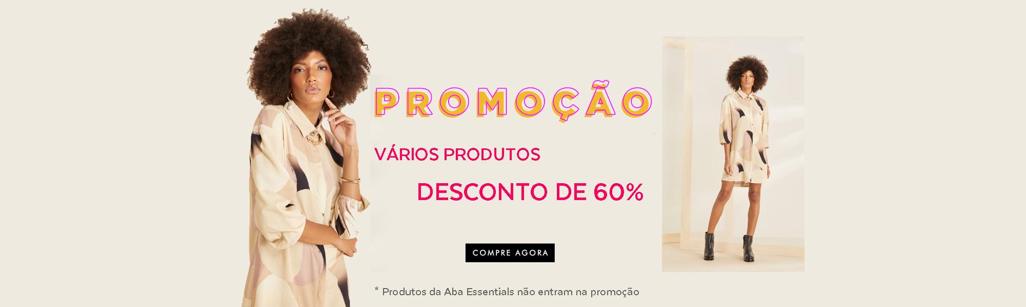 Promoção - Descontos de 60%