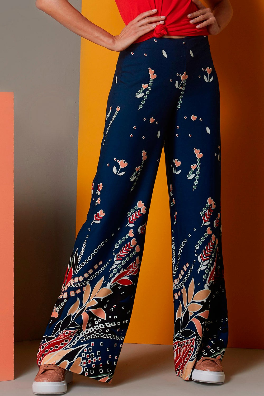 Calça Pantalona Gráfica