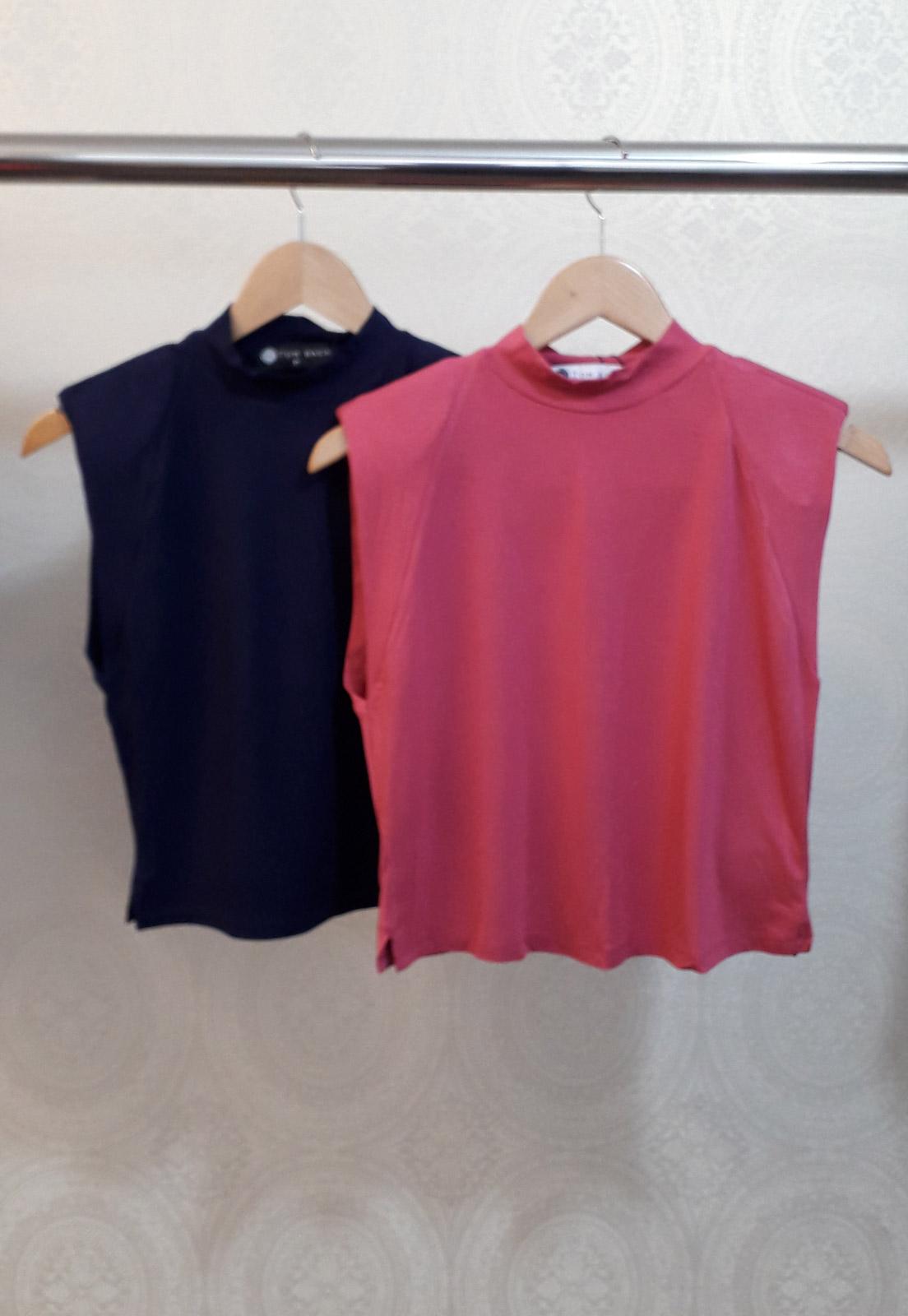 Kit c/ 2 T-shirts Maia - Azul e Rosa