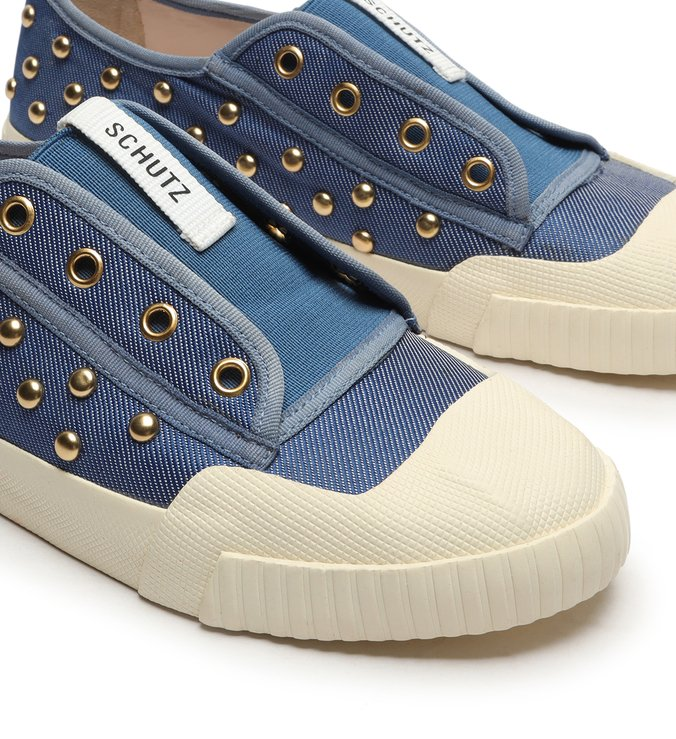 Sneaker Smash Canvas Studs Jeans