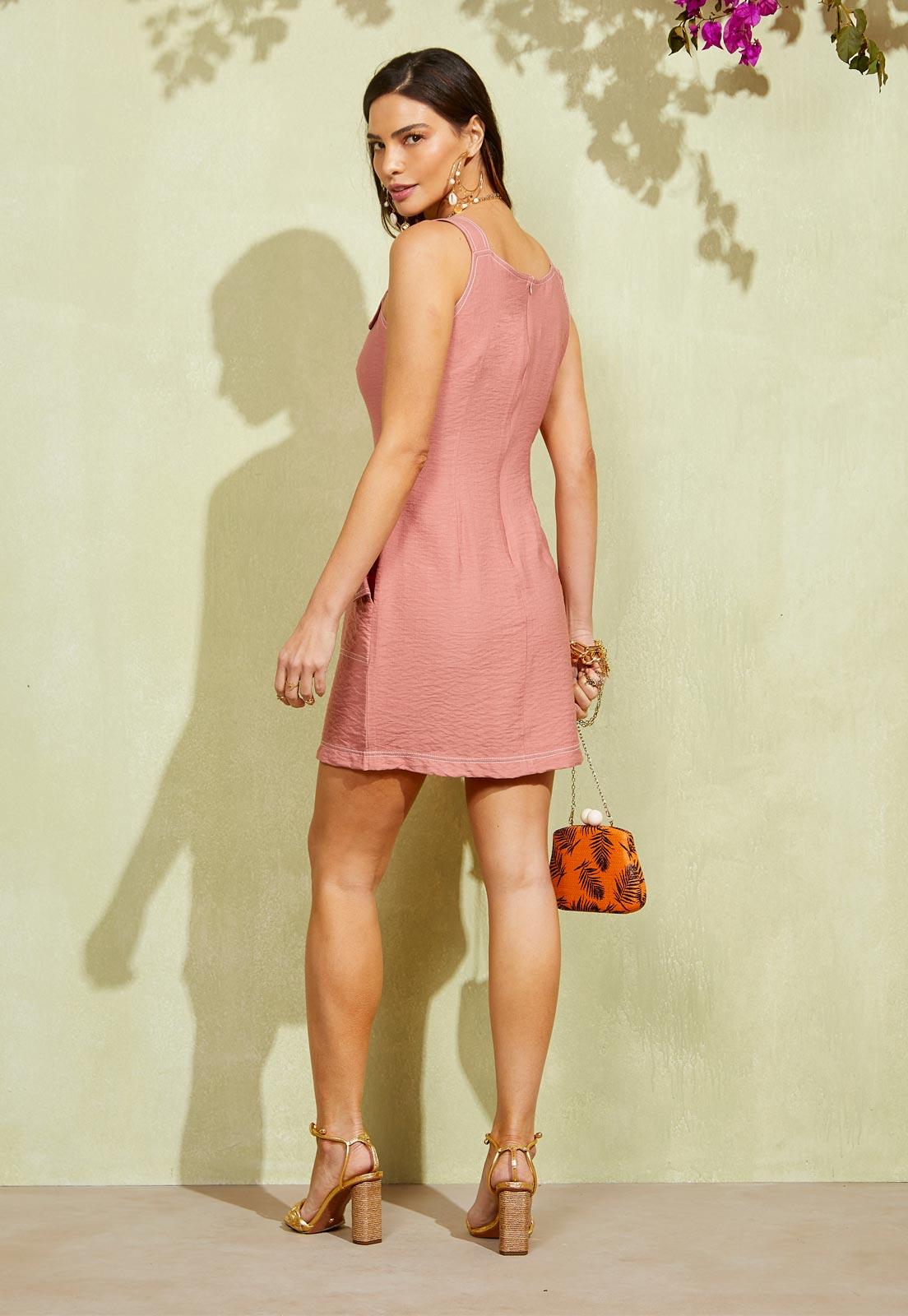 Vestido Lia Rosa Seco