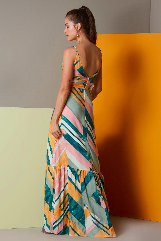 Vestido Diagonais